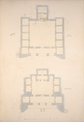 Ground Plans of the Ajanta Cave 15 and Cave 20, Ajanta